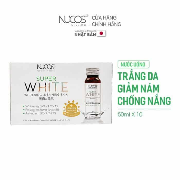 Viên uống trắng da Nucos White.